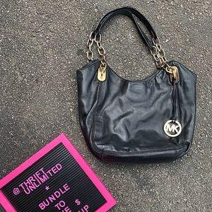 MICHEAL KORS black and gold chain bag purse